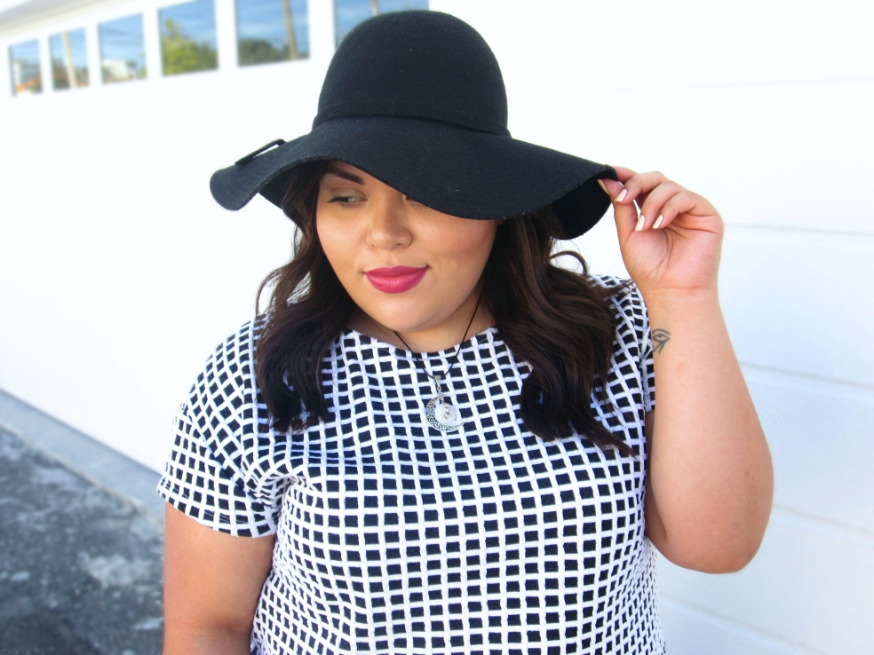 Black Wide Brim Wool Floppy Hat