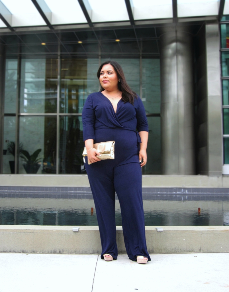 Plus Size Wide Leg Jumpsuit