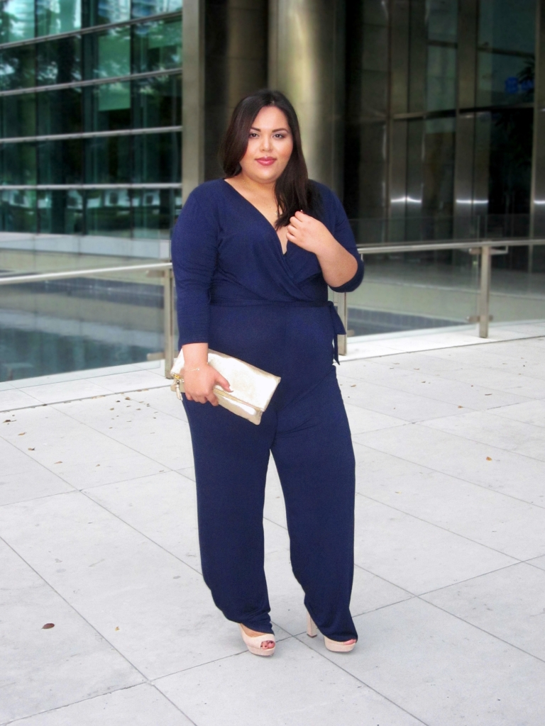 Plus Size Fashion Navy Jumpsuit