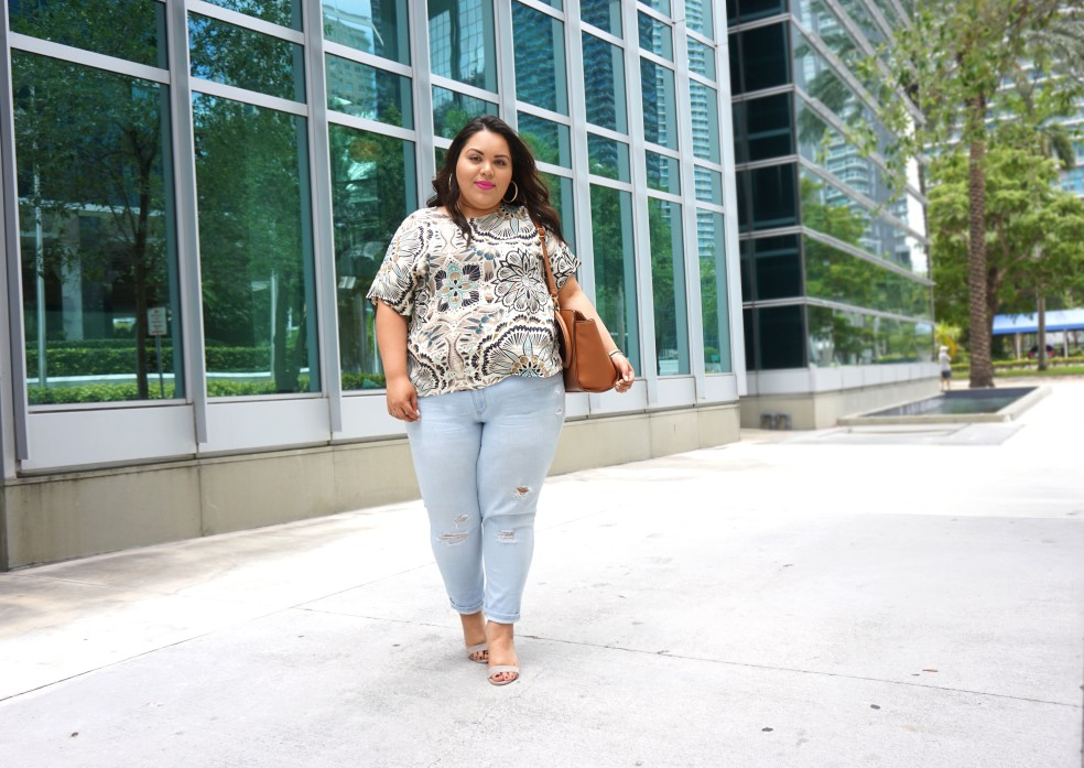 Plus Size Distressed Light Wash Old Navy Boyfriend Jeans