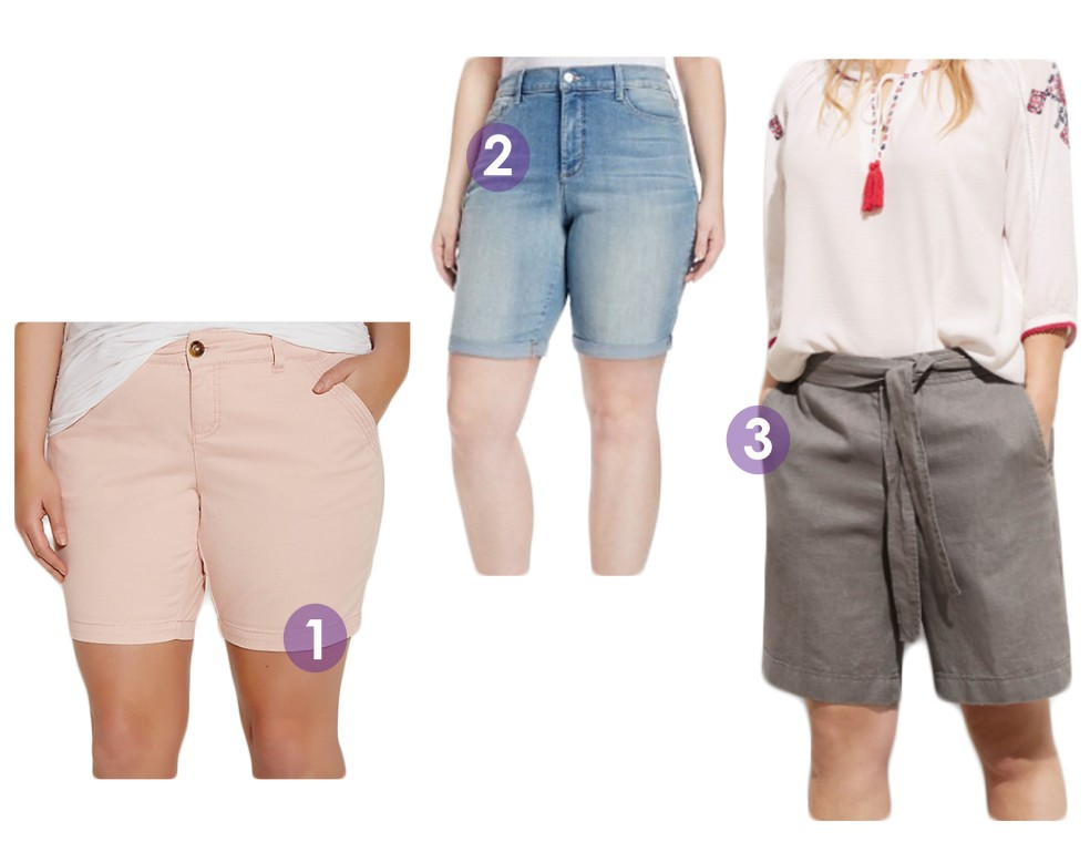 Plus Size Bermuda Shorts