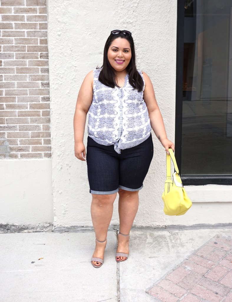 Plus Size NYDJ Bermuda Shorts