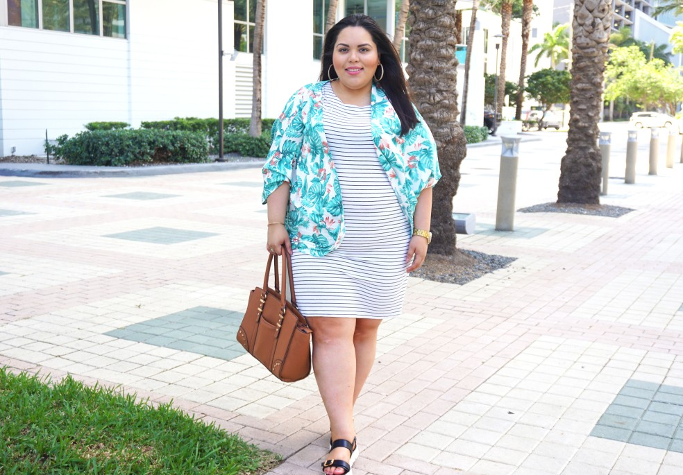 Plus Size Mixing Prints Fashion