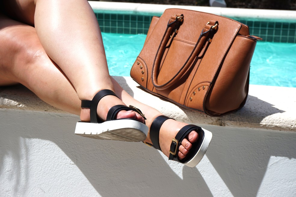 Aldo Berisford Black Flat Sandals