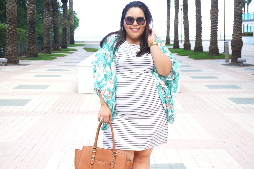 Forever 21 Plus Size Striped Shirt Dress