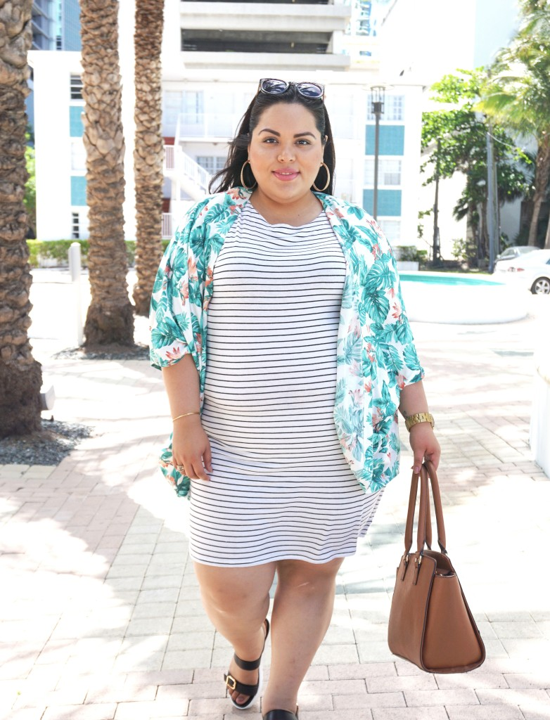 Mixing Prints Plus Size Fashion