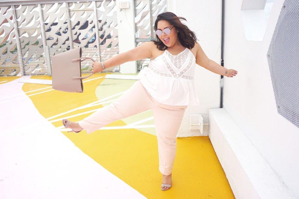 Summer Fun in Old Navy Mid Rise Harper Blush Pants