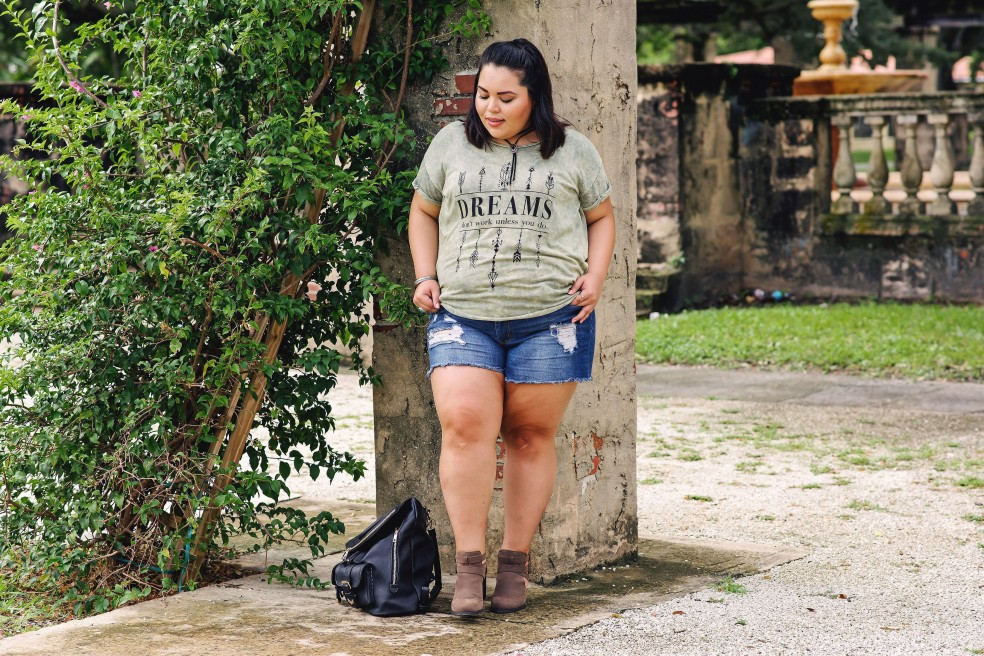 Plus Size Boho Style Casual Outfit