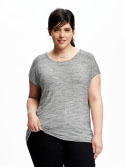 Old Navy Plus Size Dolman Sleeve Tee Heather Gray