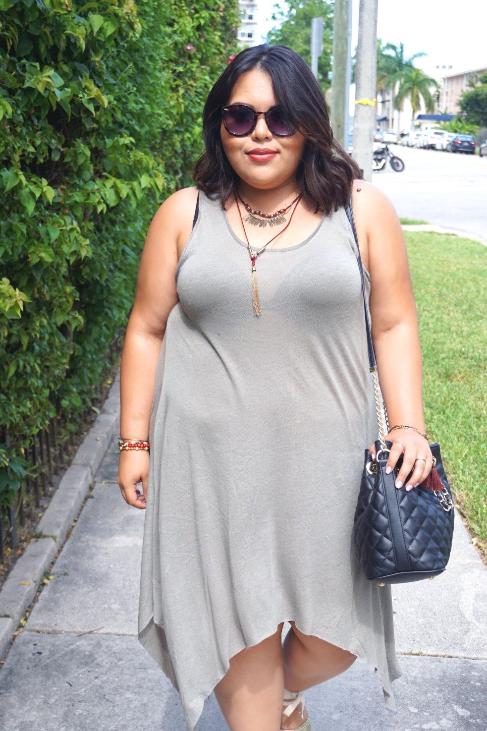Plus Size Summer Casual Outfit H&M Dress