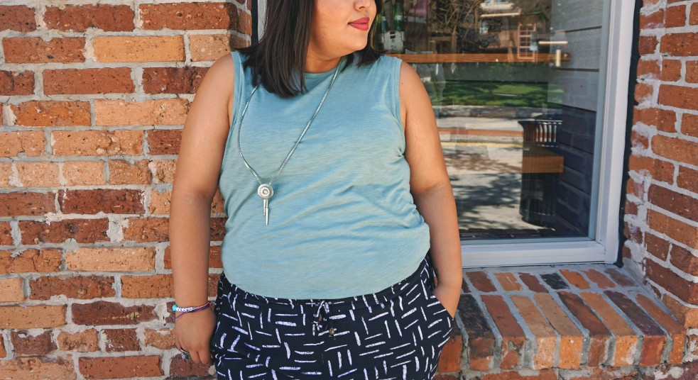 Turquoise Melange H&M Jersey Tank Casual Style Inspo