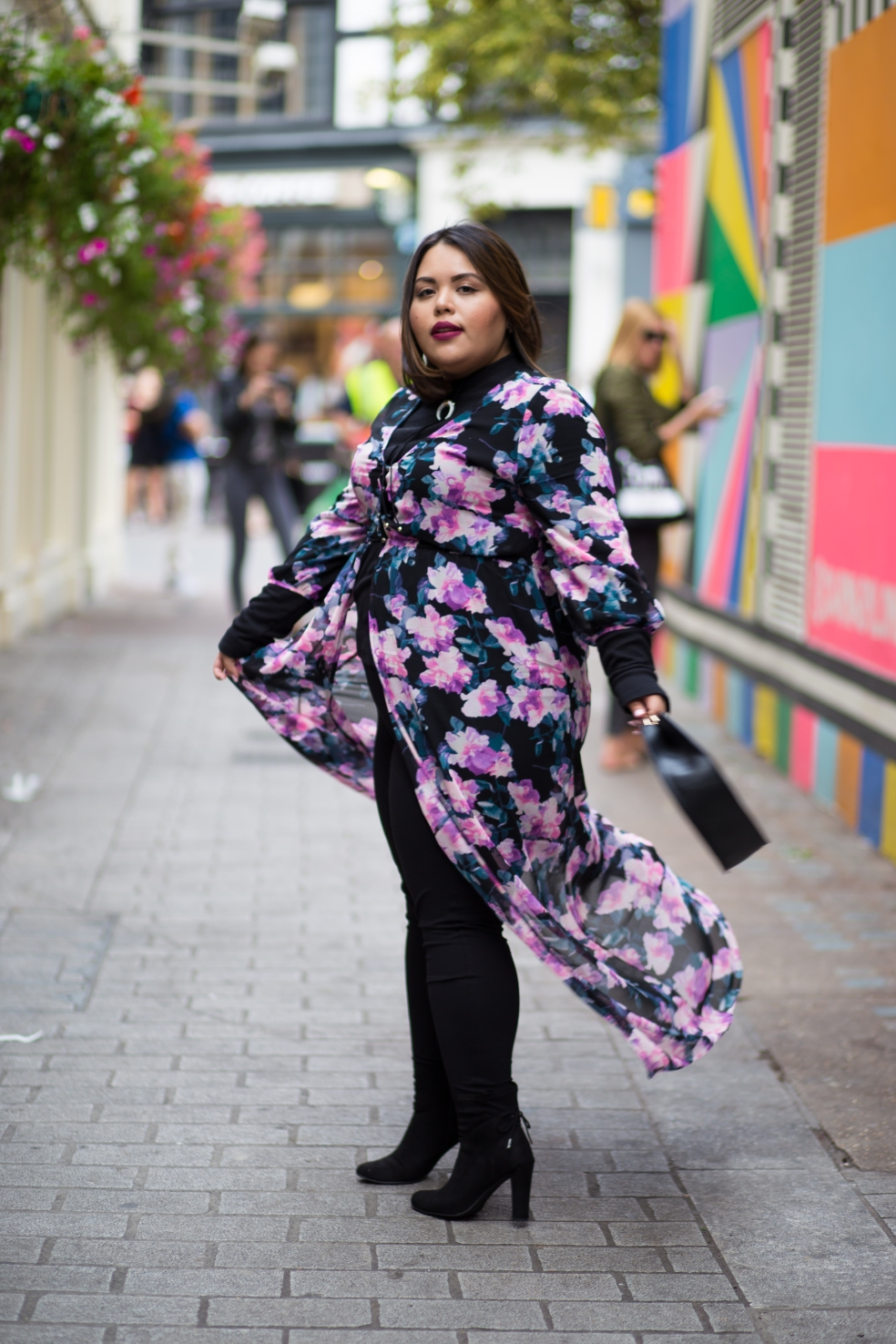 Forever 21 Plus Size Floral Maxi Layered for Fall during London Fashion Week