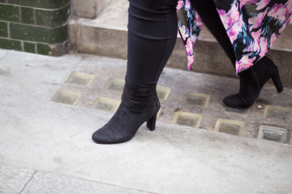 Circus by Sam Edelman Black Faux Suede Boots