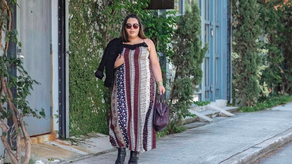 Fall Trend Style Maxi Dress and Ankle Boots