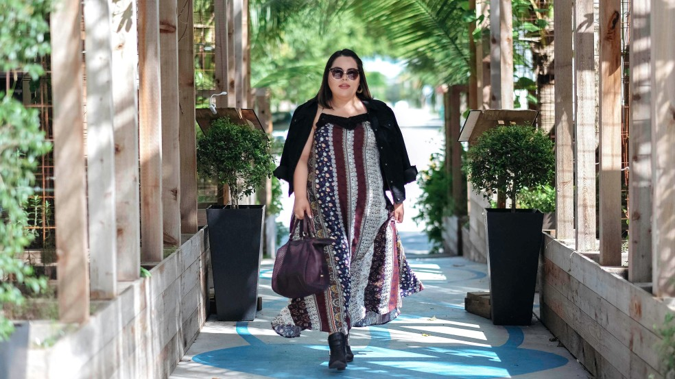 Plus Size Maxi Dress Fall Outfit of the Day featuring Valija
