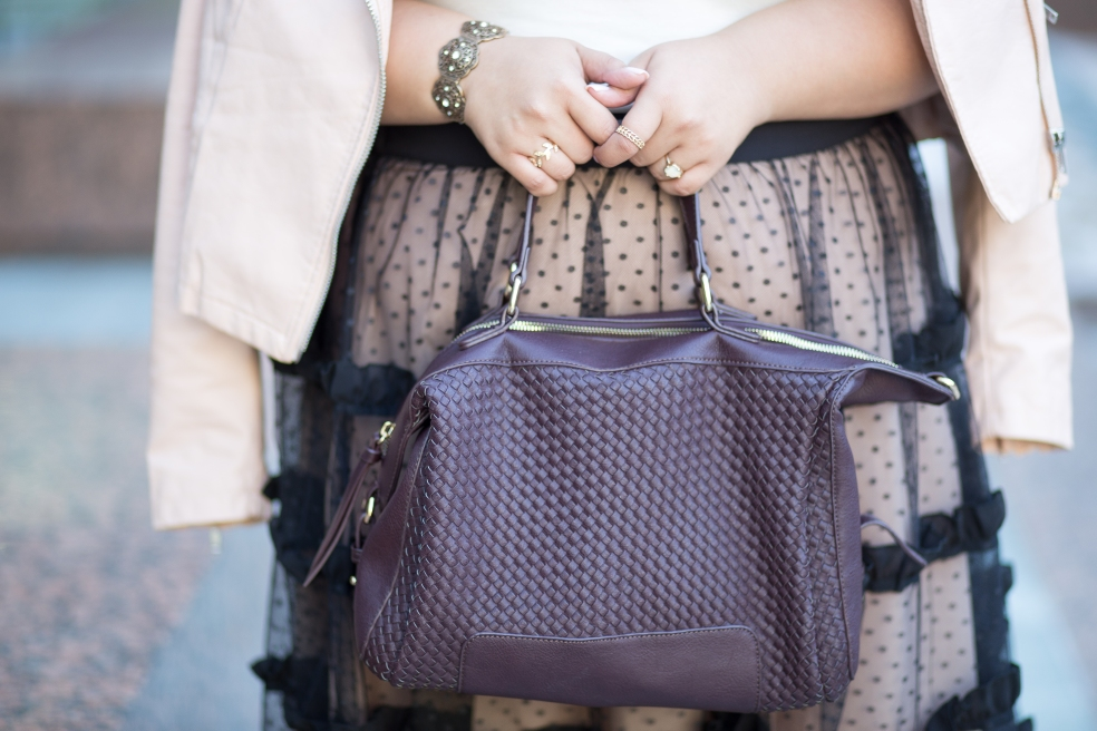 Fall Style featuring Sole Society Paxley Woven Satchel in Bordeaux