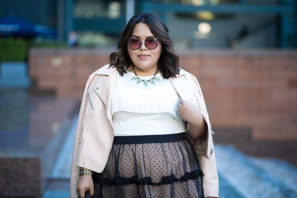 Plus Size Ruffles and Tulle Outfit of the Night