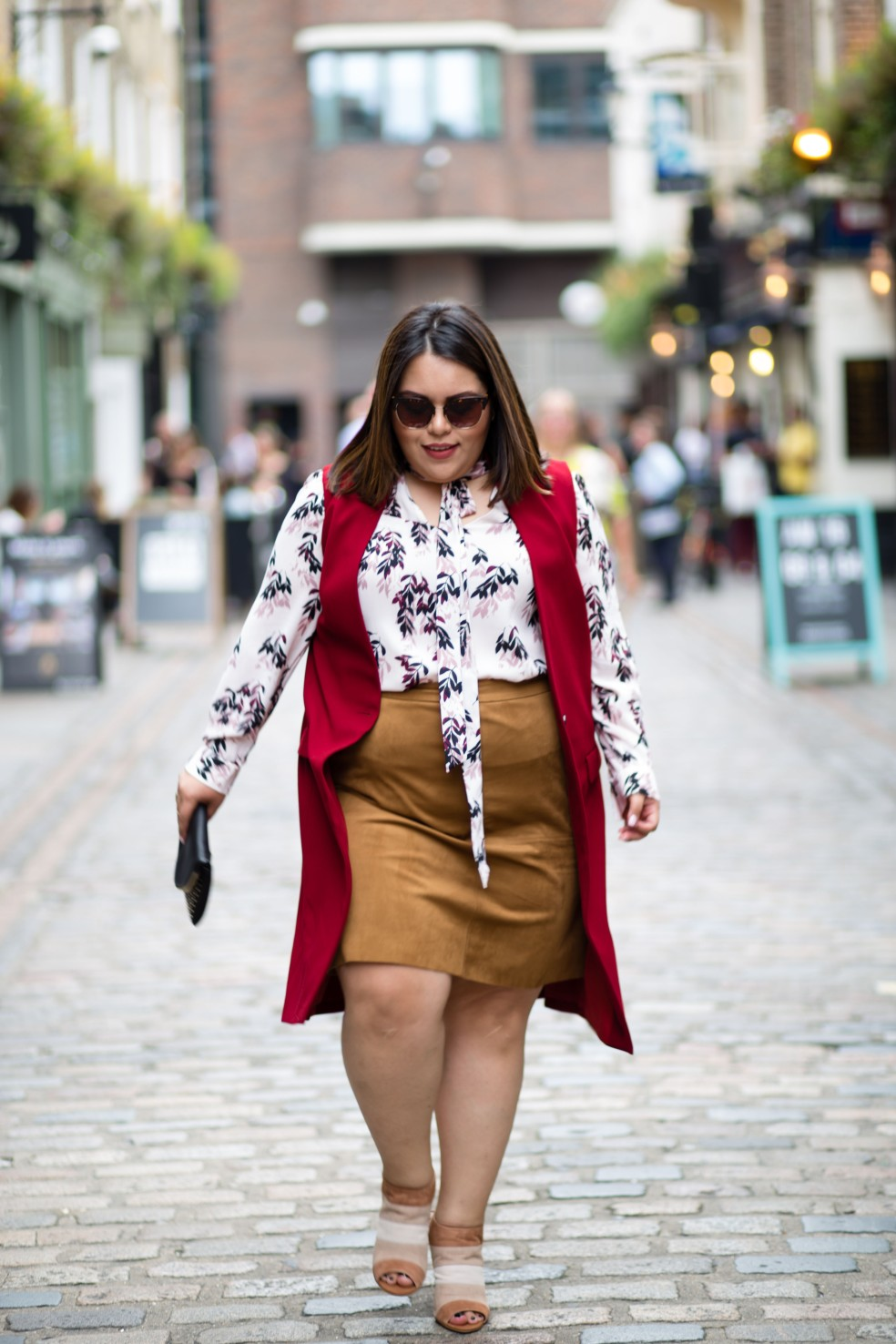 Fall Plus Size Street Style Outfit of the Day London Fashion Week