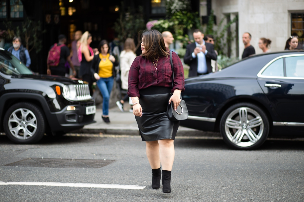 Plus Size Fall Street Style in London