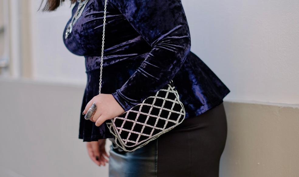 Statement Accessories featuring H&M Black Suede Embellished Crossbody Purse