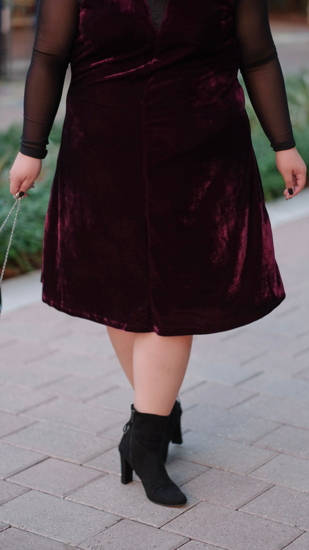 NY Collection Holiday Style Plus Size Velvet Flare Dress