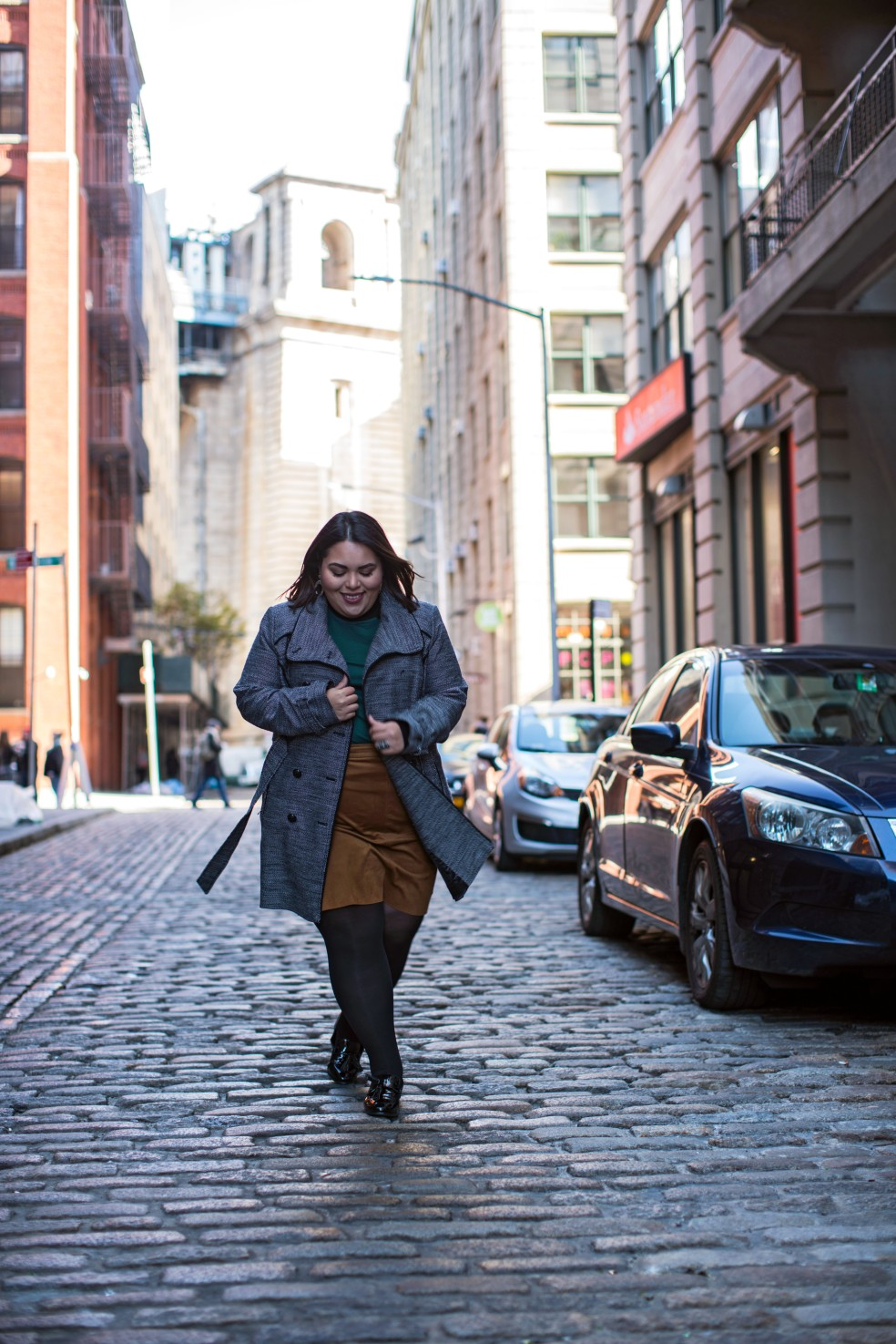 Plus Size Winter Street Style in NYC