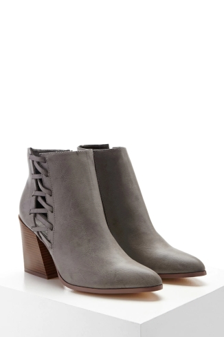 Forever 21 Faux Leather Cutout Ankle Boots