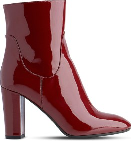 LK BENNETT PELLINO PATENT-LEATHER HEELED ANKLE BOOTS