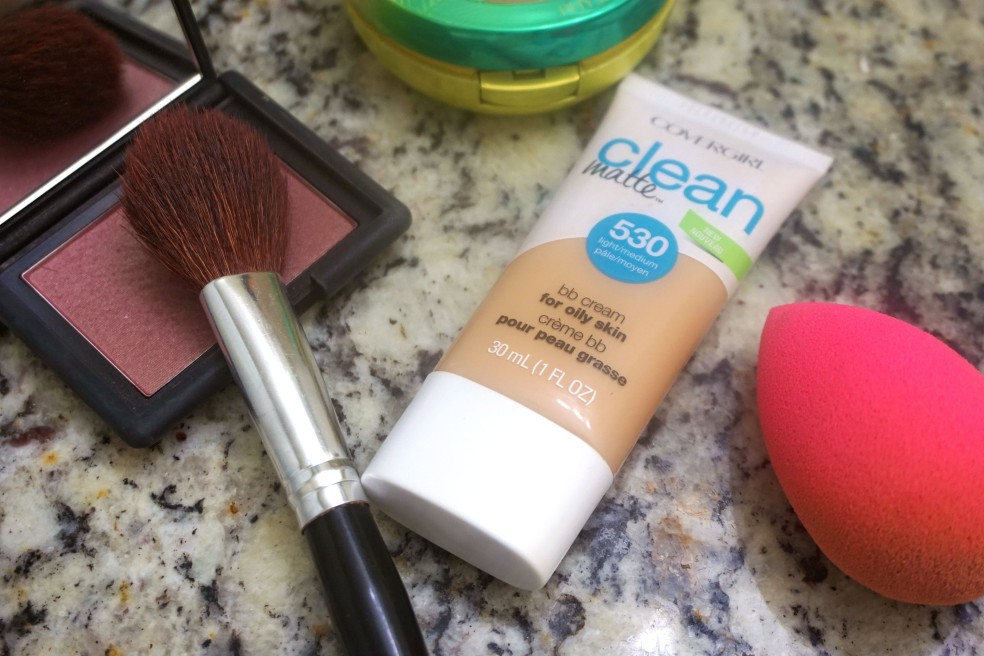 Everyday Winter Beauty Routine Using CoverGirl Clean Matte BB Cream in Light/Medium and NARS Sin Blush