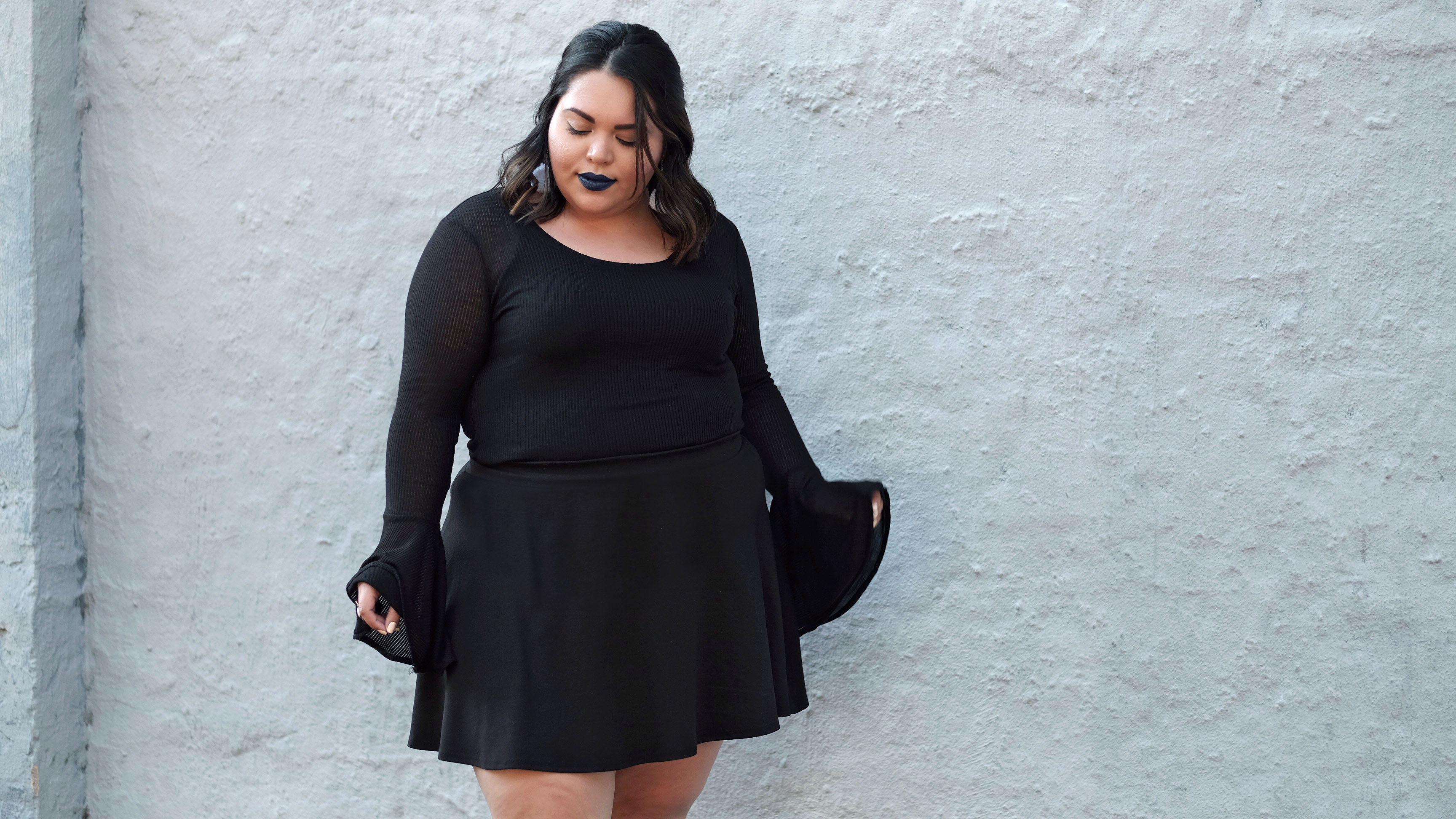 f8eaa966a Forever 21 Plus Size Black Oversized Bell Sleeve Top