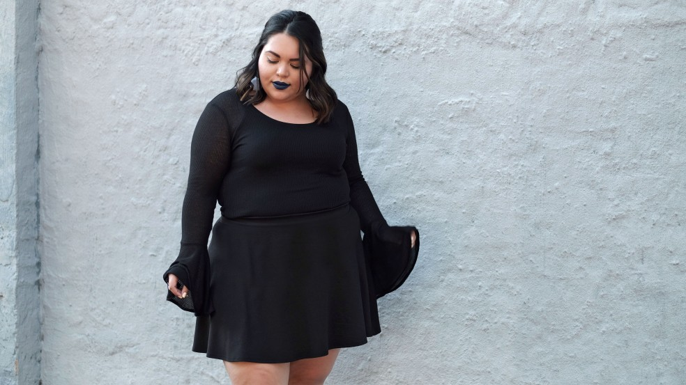 Forever 21 Plus Size Black Oversized Bell Sleeve Top