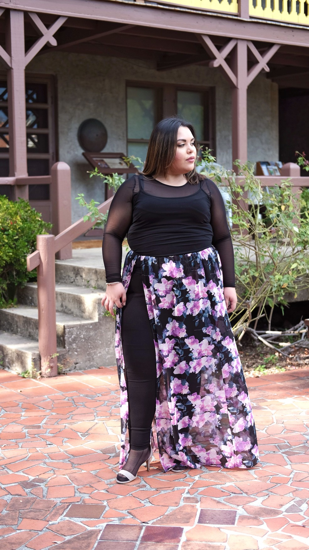 Easy and Simple Layering with a Floral Maxi Skirt