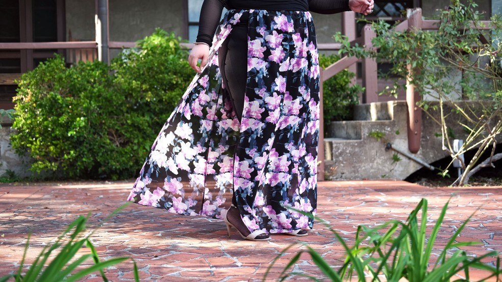 Forever 21 Plus Size Floral Maxi Skirt