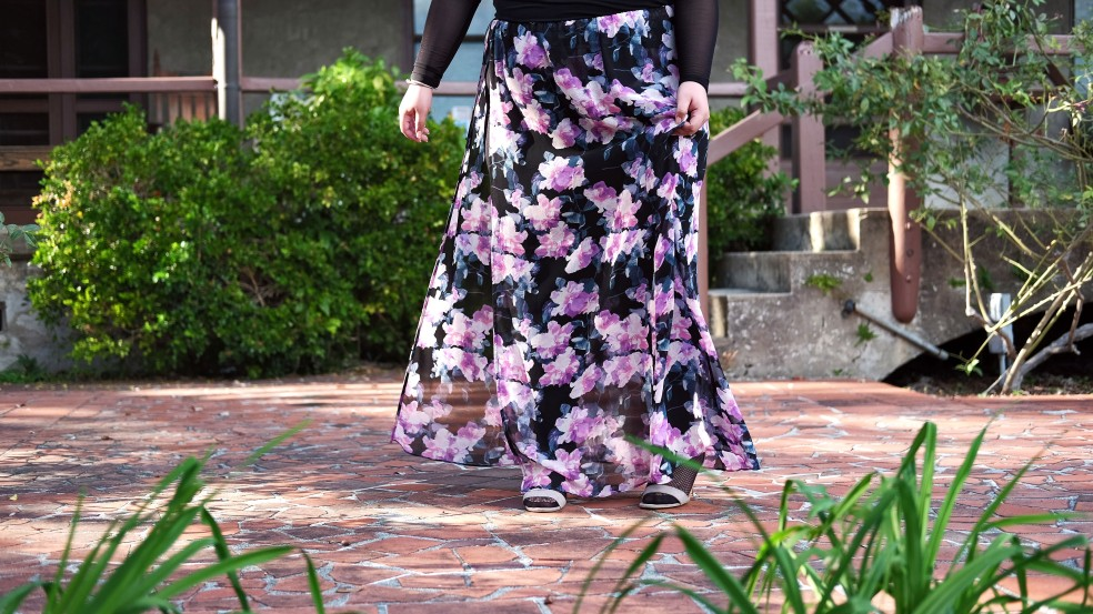 Forever 21 Plus Size Floral Dress Transformed to a Maxi Skirt