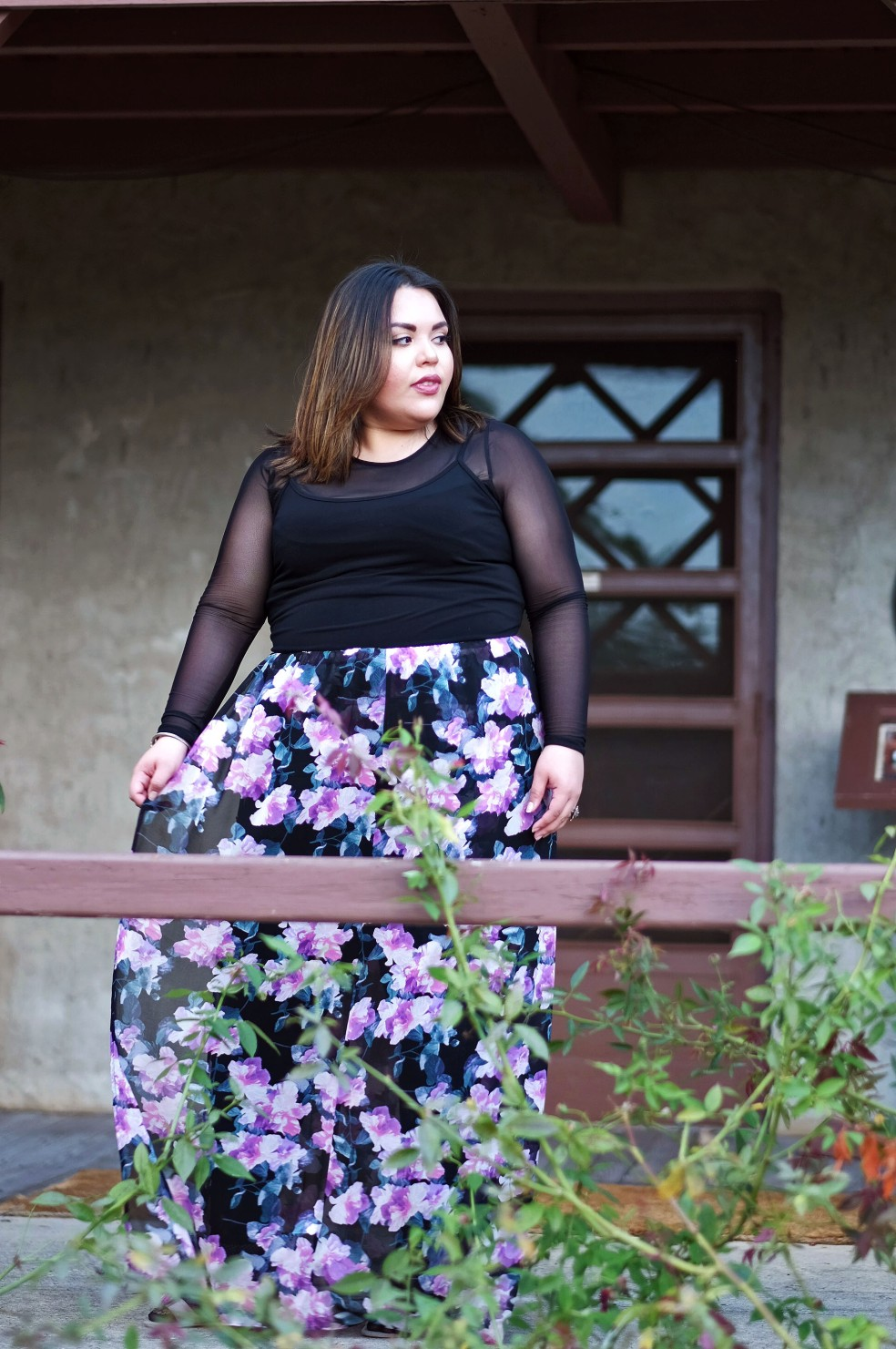 Plus Size Layering Style feat. Forever 21 Floral Maxi Dress