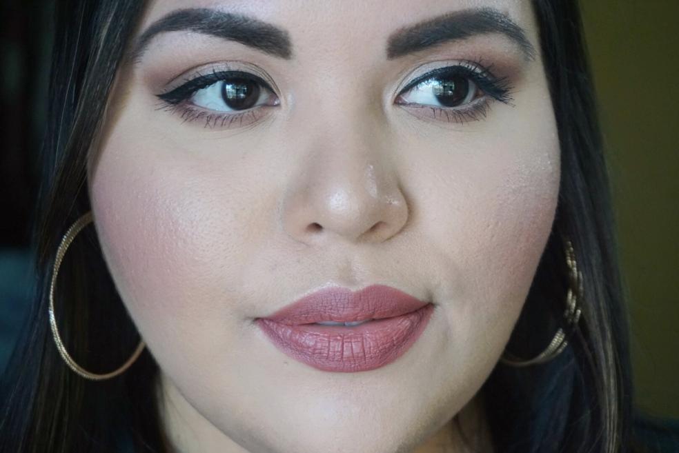 Valentine's Day Makeup Look Wearing Kat Von D Liquid Lipstick in Lolita