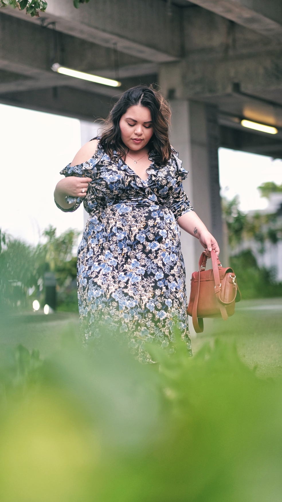 Spring Plus Size Wrap Dress by Kiyonna
