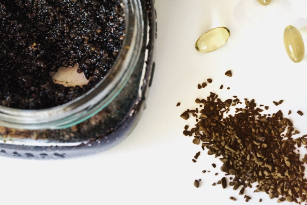 Natural Organic Coffee Exfoliating Scrub Recipe