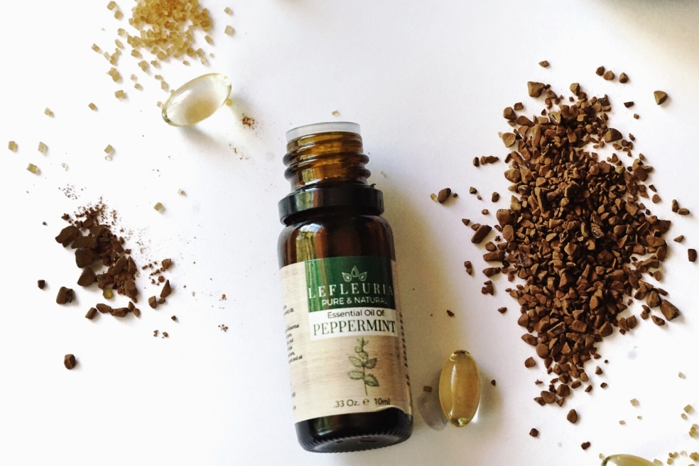 Natural Organic Coffee Exfoliating Scrub with Peppermint Oil