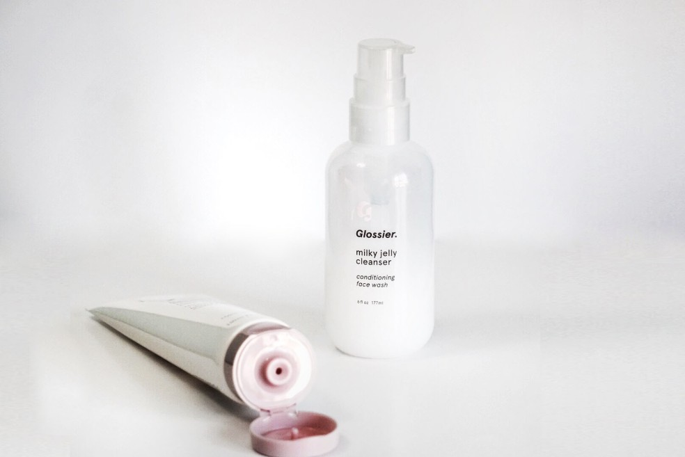Glossier Milky Jelly Cleanser Makeup Removing Beauty Blog Post