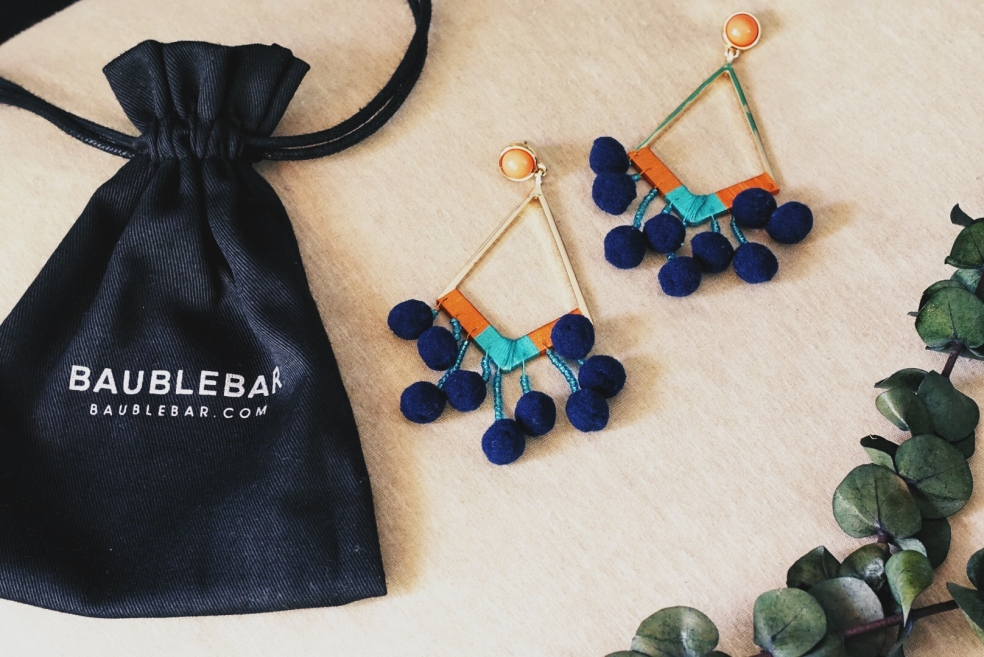 Spring Statement Pom Pom Earrings from Baublebar
