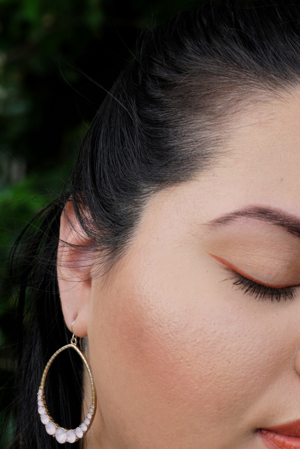 Spring Makeup Look Wearing Stila Stay All Day Amber Liquid Liner