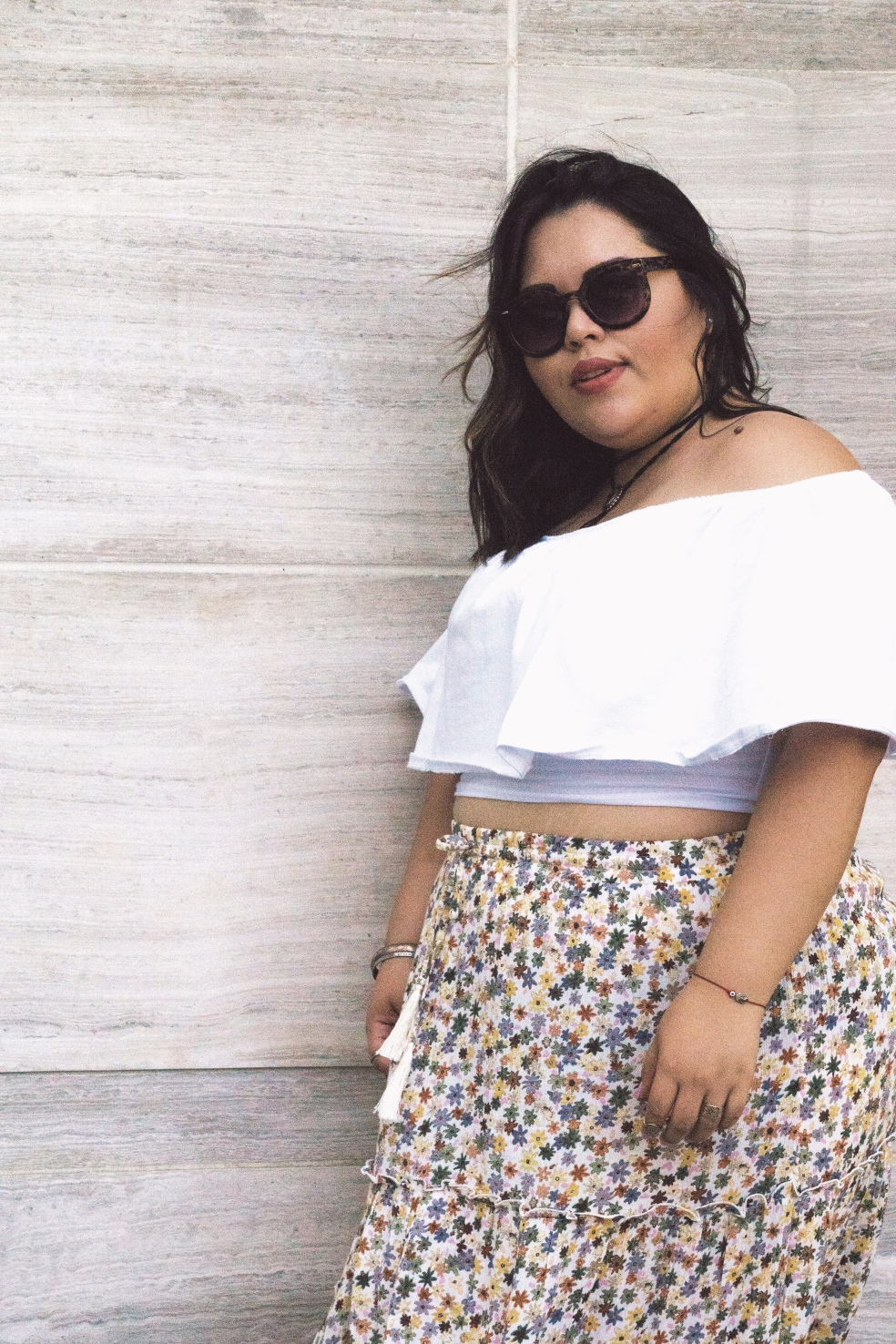 Plus Size Rebdolls Ruffled Crop Top Spring Style