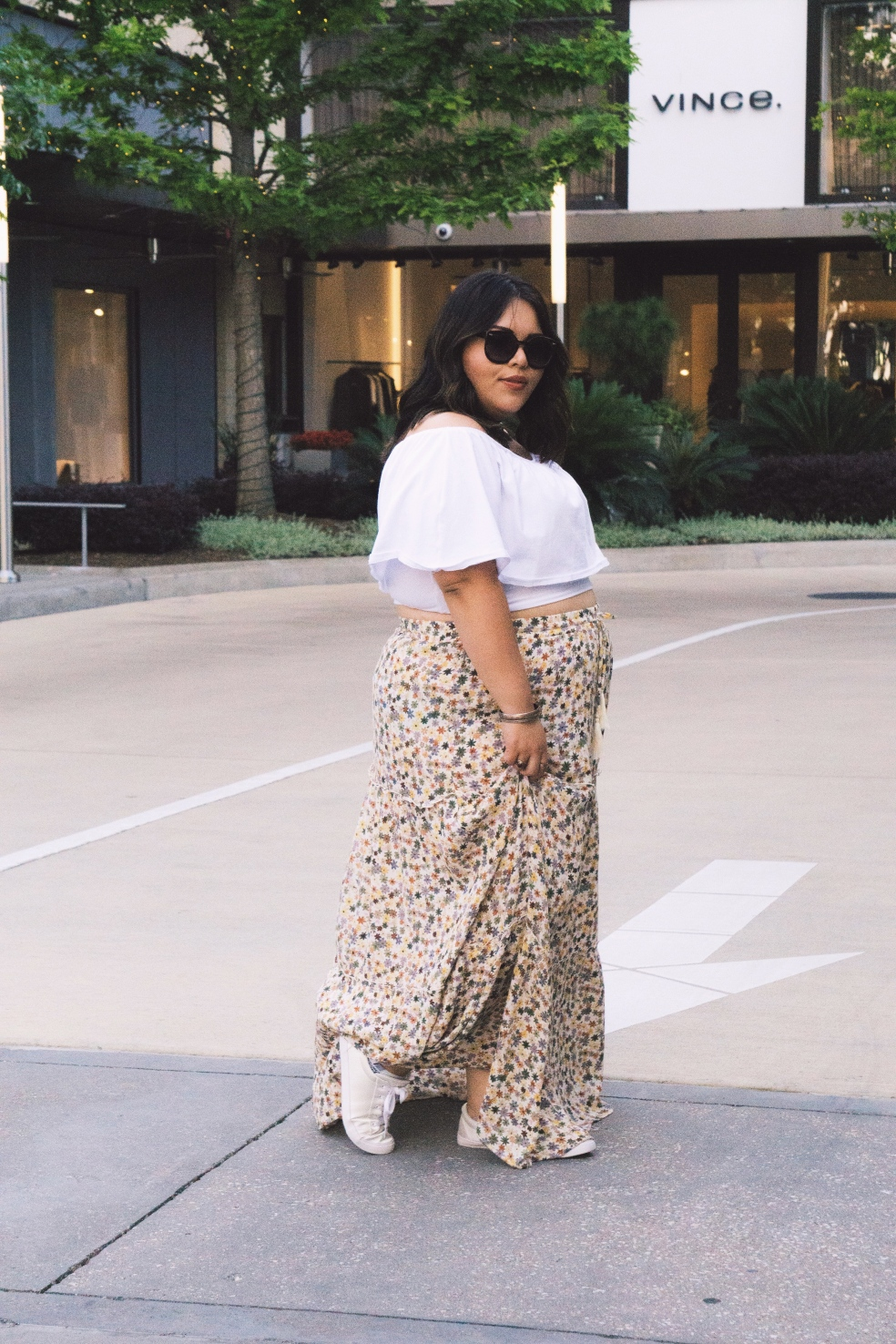 Spring Style Outfit Plus Size Mossimo Maxi Floral Skirt