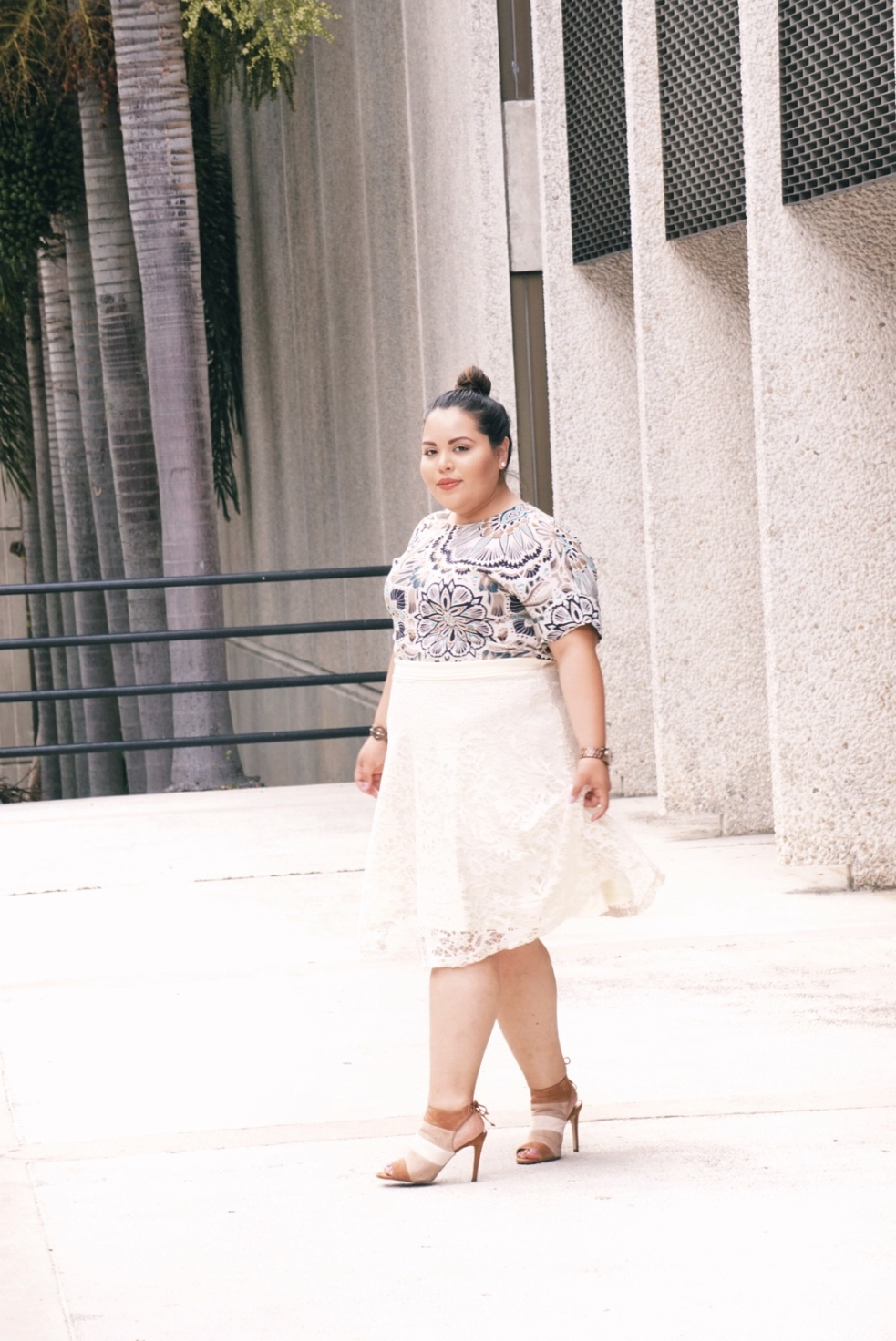 Plus Size Miami Spring Lifestyle Fashion