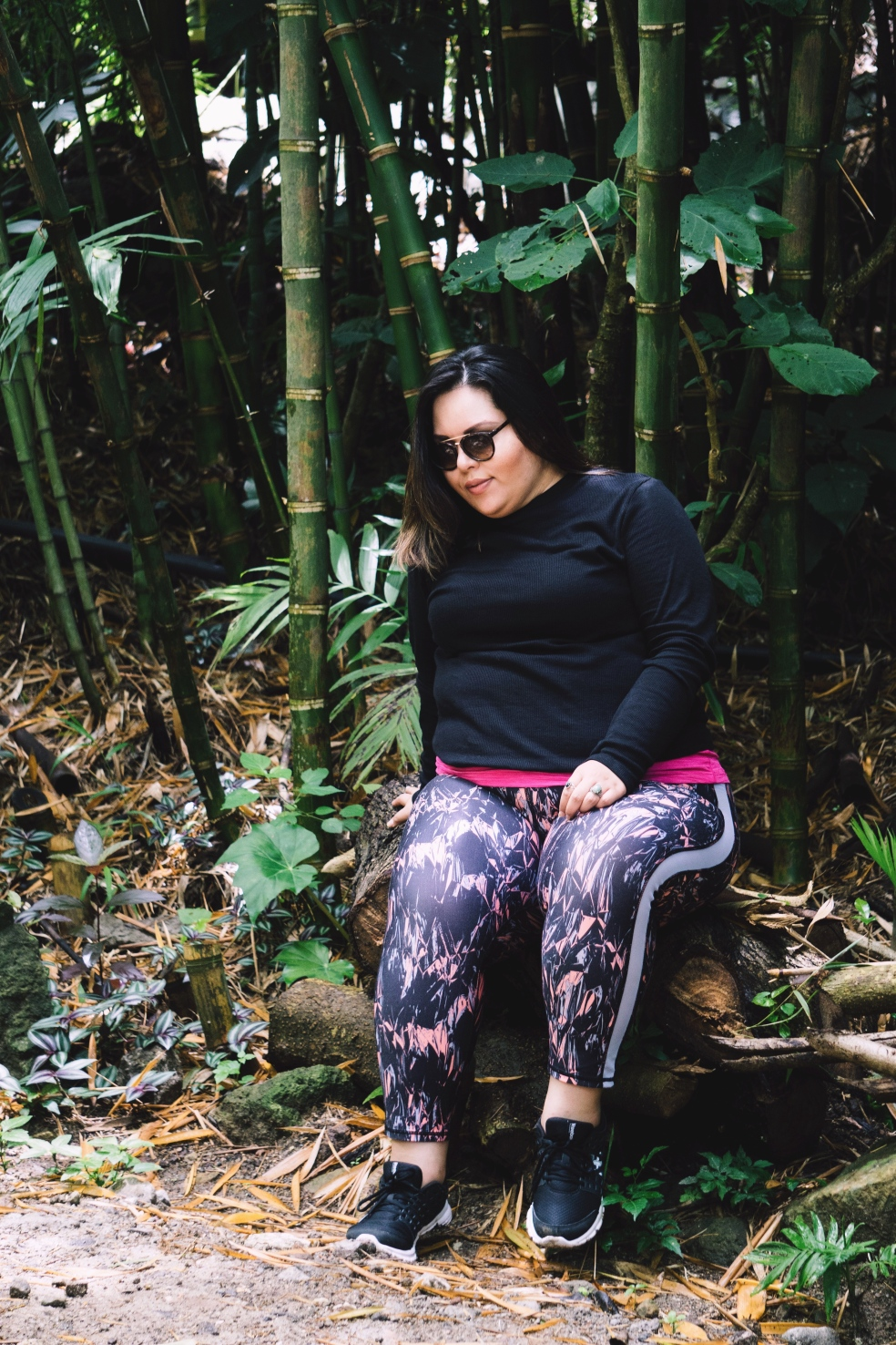 Plus Size Summer Travel Style feat. ASOS Curve Turtleneck and Adore Me Alia Leggings