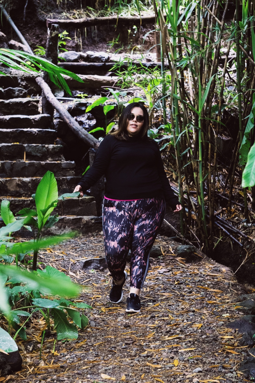 Plus Size Travel Outfit of the Day feat. ASOS Curve Turtleneck and Adore Me Alia Leggings Set