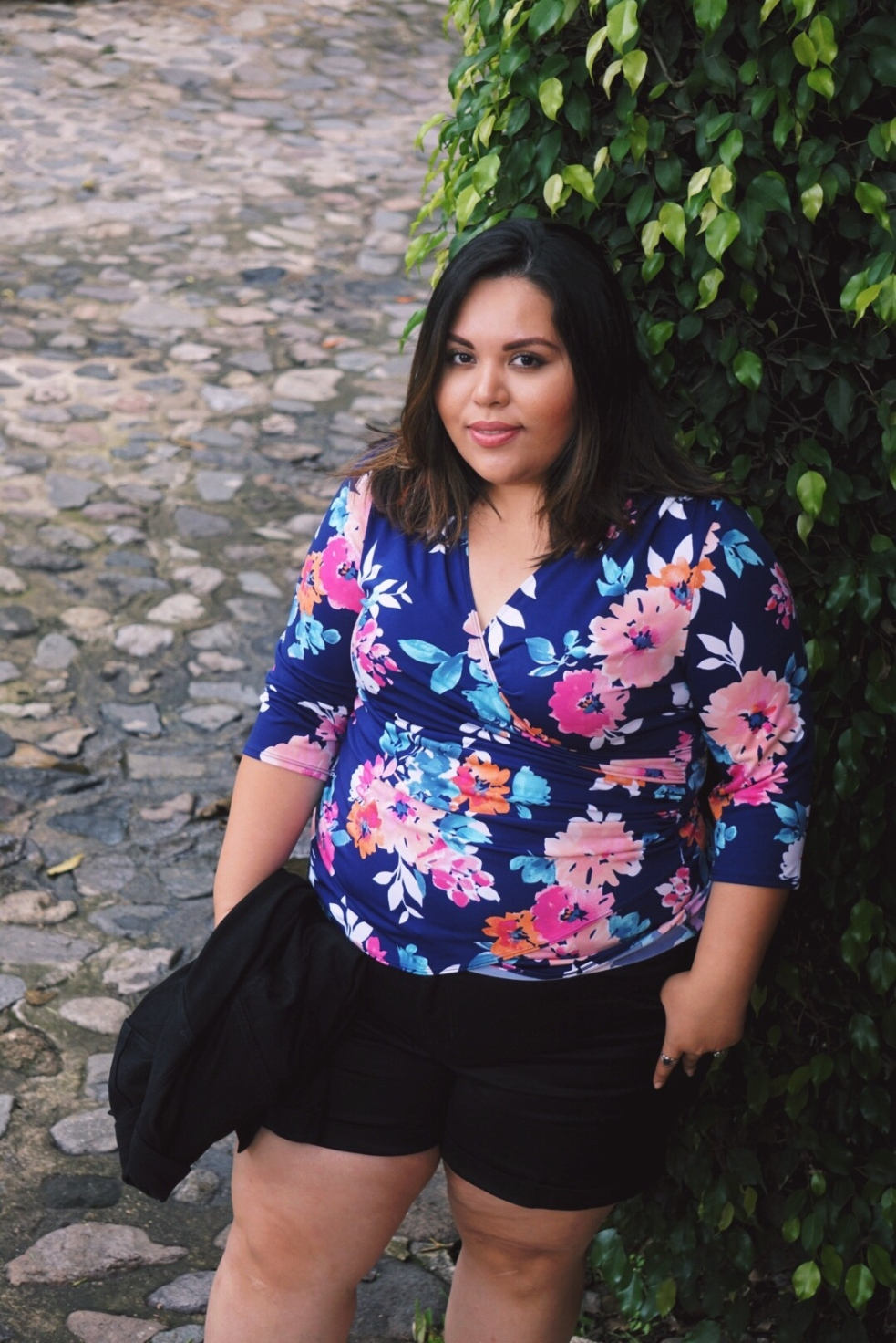Plus Size Kiyonna Camila Cinch Floral Top